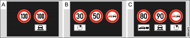 Volkswagen Touran Owners Manual - Display - Road sign